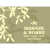 Light Green Thank You Cards