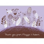 Purple Brown Thank You Cards