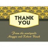 Yellow Gray Thank You Cards
