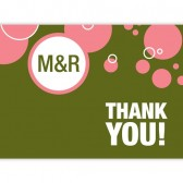Green Pink Thank You Cards