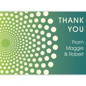 Blue Green Thank You Cards with Dots