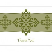Elegant Green Thank You Cards