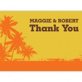 Palm Tree Thank You Cards