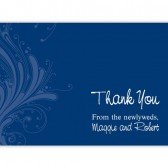 Elegant Blue Design Thank You Cards