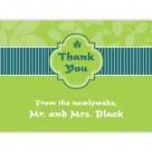 Green Blue Thank You Cards