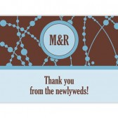 Brown Blue Thank You Cards