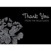 Black White Thank You Cards