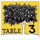Yellow Tree Table Numbers