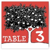 Red Tree Table Numbers