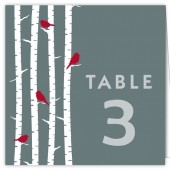 Tree with Birds Table Number