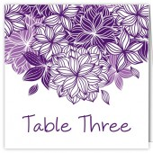 Purple and White Table Numbers