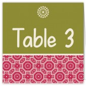 Green Red Table Numbers