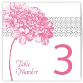 Pink Flower Table Numbers