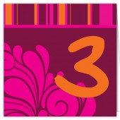 Fuchsia and Orange Table Numbers