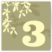 Light Green Table Numbers