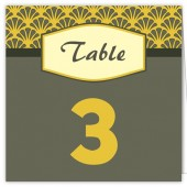 Yellow Gray Table Numbers