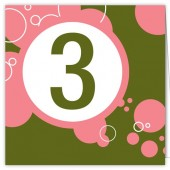 Pink Green Table Numbers