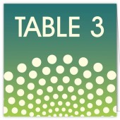 Blue Green Dots Table Numbers