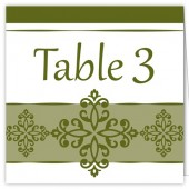 Elegant Green Table Numbers