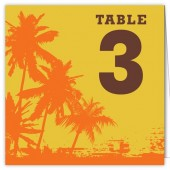 Palm Tree Table Numbers