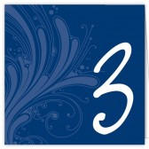 Blue White Table Numbers