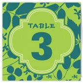 Blue Green Table Numbers