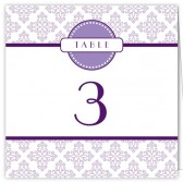 Purple White Table Numbers