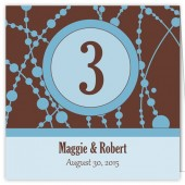 Blue Brown Table Numbers