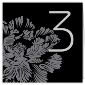 Black White Table Numbers
