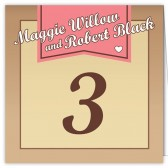 Pink Banner Table Numbers