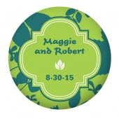 Blue and Green Button Favors