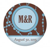 Brown Blue Favor Buttons
