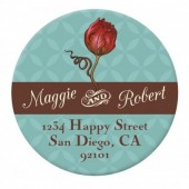 Rose Sticker Label