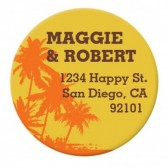 Palm Tree Sticker Label