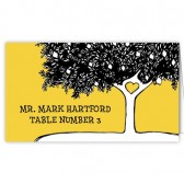 Black Yellow Tree Escort Card