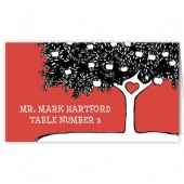 Red Black Tree Escort Cards