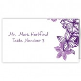 Purple Flower Escort Cards