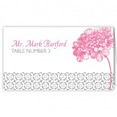 Pink Flower Escort Card
