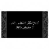 Black and White Escort Card