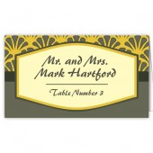 Yellow Gray Escort Card