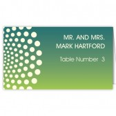 Blue Green Dots Escort Cards