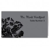 Gray Black Escort Cards
