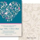 Blue Invitations with Heart