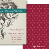 Gray Teal Invitations