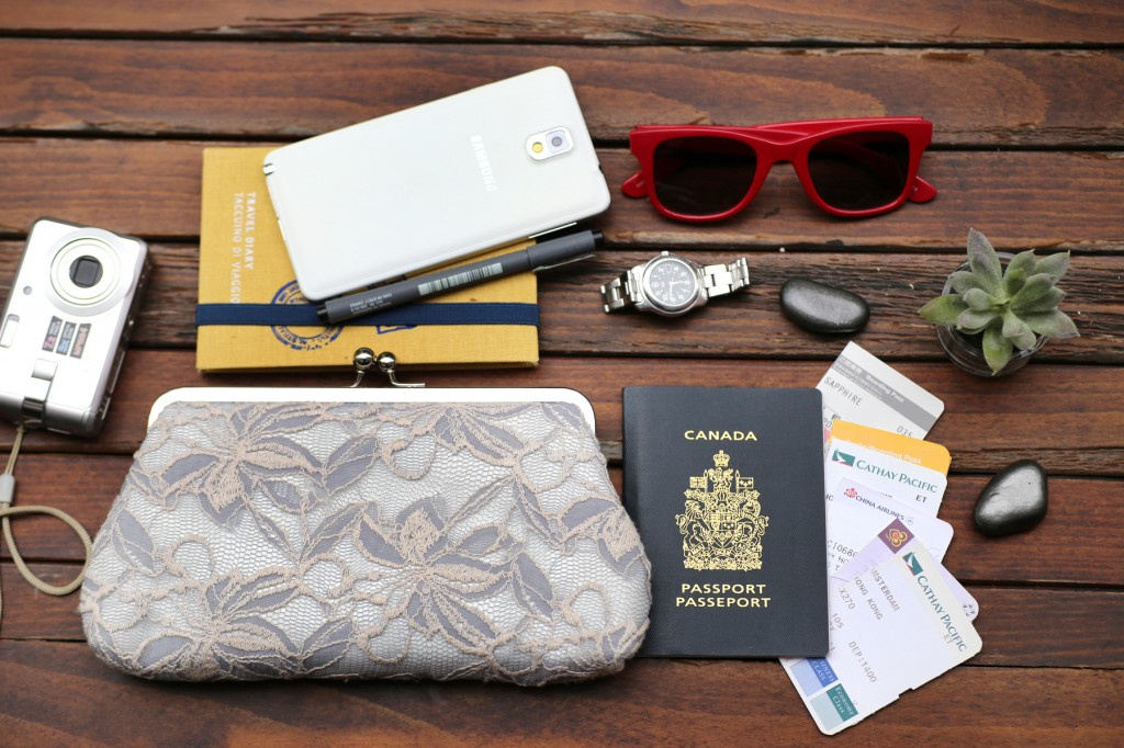 ANGEE W. Reverie Lace Clutch in Gray and Ivory for the wedding, honeymoon and beyond