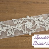 SparkleSM Bridal Sashes - Juliet