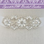 Delaney Crystal Bridal Sash