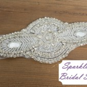 SparkleSM Bridal Sashes - Delaney