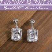 Wedding Earrings, SparkleSM Bridal, Colette