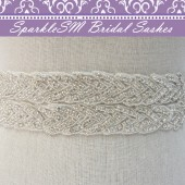 Adeline Wide Bridal Sash